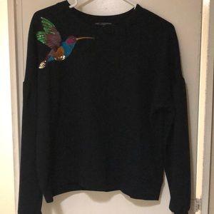 Black lightweight sweatshirt